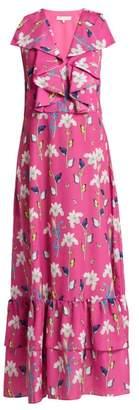 Borgo de Nor Carlotta Crepe Maxi Dress - Womens - Pink Print