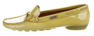 Salvatore Ferragamo Patent Leather Bow Loafers