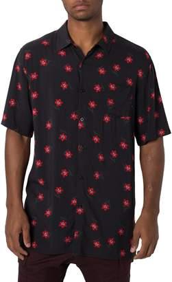 Zanerobe Dark Tropic Elongated Rayon Shirt