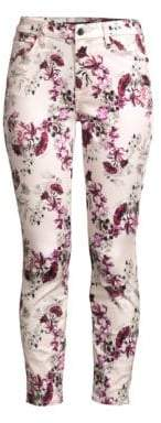 7 For All Mankind Jen7 by Floral Ankle Skinny Jeans