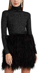 Robert Rodriguez Women's Metallic Rib-Knit Wool-Blend Turtleneck Sweater - Silver