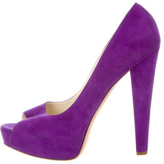 Brian Atwood Suede Peep-Toe Pumps $155 thestylecure.com