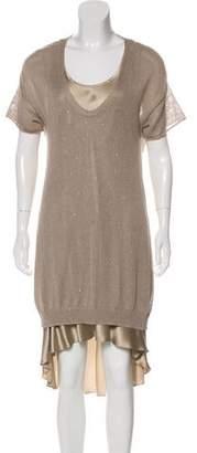 Brunello Cucinelli Linen Sweater Dress