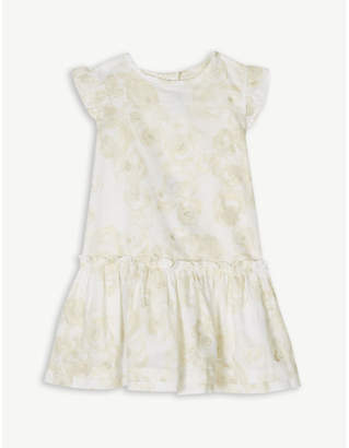 Petit Bateau Floral glitter print cotton dress 3-24 months