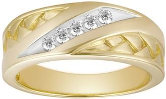 Men's 10k Gold 1/6 Carat T.W. Diamond Channel Ring