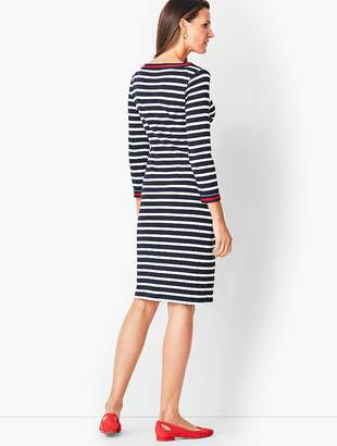Talbots Stripe Cotton Shift Dress
