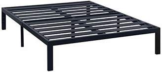 Best Price Mattress Twin Bed Frame - 14 Inch Metal Platform Beds [Model E] w/ Steel Slat Support (No Box Spring Needed)
