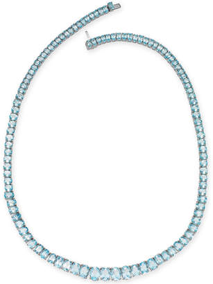 Macy's Sky Blue Topaz Graduated All-Around Collar Necklace (54 ct. t.w.) in Sterling Silver