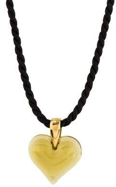 Lalique Crystal Heart Pendant Necklace