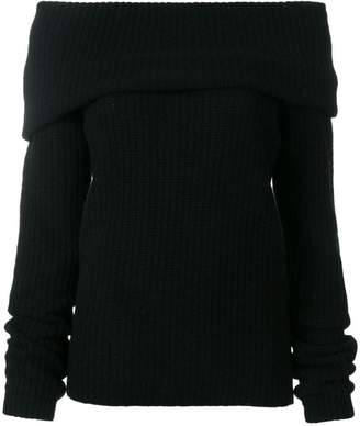MSGM open neck ribbed sweater