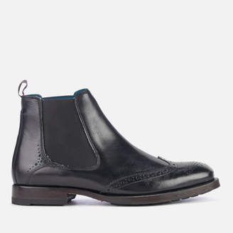 Ted Baker Men's Camheri Leather Brogue Chelsea Boots - Black