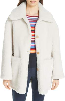 Tory Burch Oliver Genuine Shearling Coat
