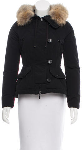 MonclerMoncler Coyote-Trimmed Ayroco Coat