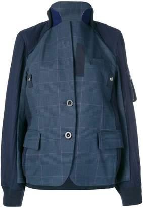 Sacai patchwork bomber jacket