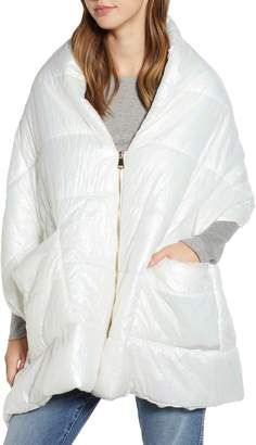 David & Young Quilted Zip Puffer Cape