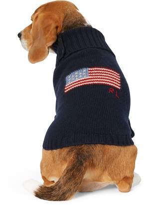 Ralph Lauren Flag Wool-Cashmere Dog Sweater
