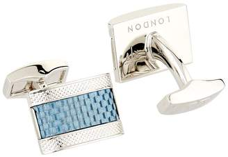 Tateossian D-Shape Carbon Cufflinks