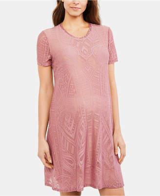 723dd29d463 BCBGMAXAZRIA Maternity Textured A-Line Dress