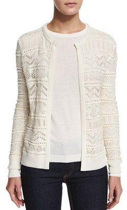 Ralph Lauren Collection Long-Sleeve Open-Front Cardigan, Cream $1,390 thestylecure.com