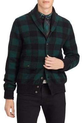 Polo Ralph Lauren Checked Wool-Blend Cardigan