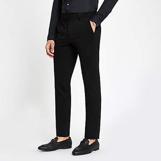 River Island Black super skinny fit suit trousers