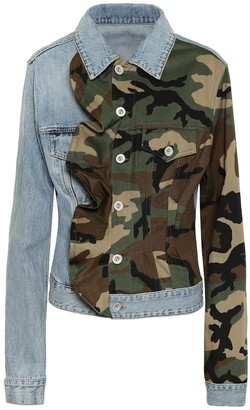 Unravel Camo-print denim jacket