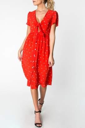 Everly Polka-Dot Midi Dress
