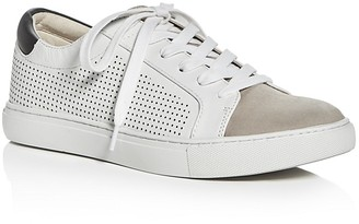 Kenneth Cole Kam Perforated Lace Up Sneakers $120 thestylecure.com