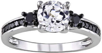 Black Diamond MODERN BRIDE ? CT. T.W. Heat-Treated & Lab-Created Sapphire Engagement Ring