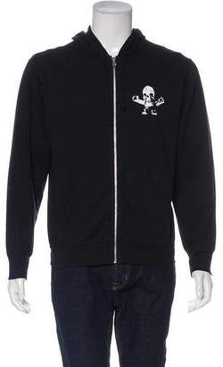 Chrome Hearts Graphic Zip-Up Sweatshirt