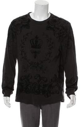 Dolce & Gabbana Floral Velvet Print T-Shirt