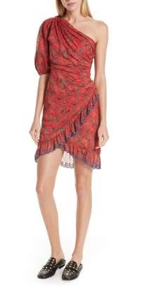 Etoile Isabel Marant Esther One-Shoulder Minidress