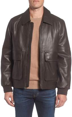 Andrew Marc Lambskin Leather Aviator Jacket