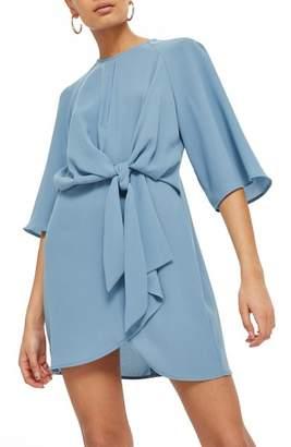 Topshop Tie Front Minidress