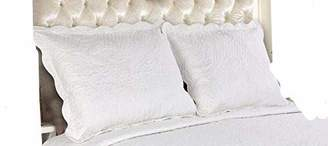 All For You 2-Piece Embroidered Pillow Shams-King size-white color (king
