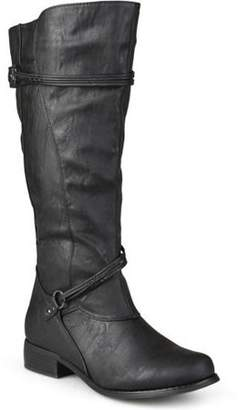 Co Brinley Women's Extra Wide Calf Knee High Faux Leather Riding Boots