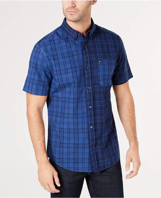 Tommy Hilfiger Men Liam Classic-Fit Pieced Plaid Shirt