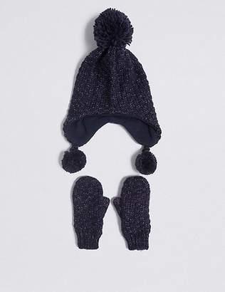 889c0b43f37 Marks and Spencer Kids  Trapper Hat   Mittens Set