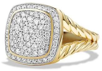 David Yurman Albion Ring with Diamonds in 18K Gold