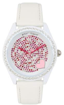 Betsey Johnson Women's Crystal Embellished Watch, 40mm