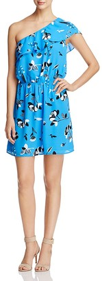 Finn & Grace One Shoulder Floral Print Dress - 100% Exclusive $88 thestylecure.com