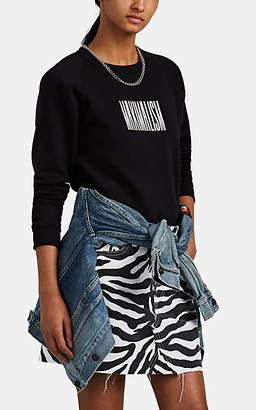 "Monogram Women's ""Maximalism"" Cotton-Blend Fleece Raglan Sweatshirt - Black"