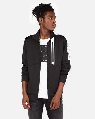 Express Exp Color Block Fleece Track Jacket
