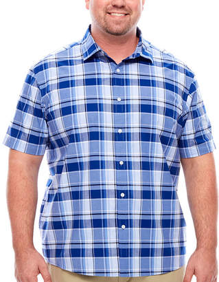 Claiborne Short Sleeve Button-Front Shirt-Big and Tall