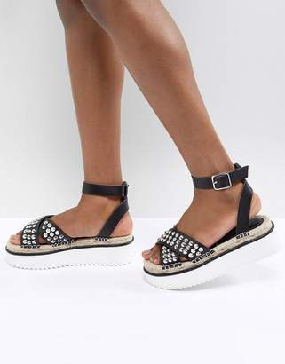 Asos DESIGN Tristen Studded Flatforms
