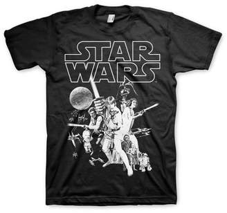 Star Wars Officially Licensed Classic Poster 3XL,4XL,5XL Mens T-Shirt , 5X-Large