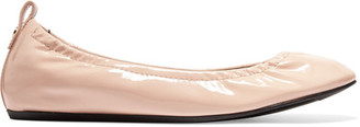 Lanvin - Patent-leather Ballet Flats - Blush $550 thestylecure.com