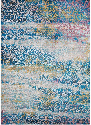 Blue Area United Weavers Rhapsody Midlothian Scroll Rug
