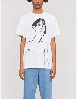 Loewe Potrait-print cotton-jersey T-shirt