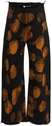 Marques Almeida Marques'almeida Wide Leg Bleach Print Jeans